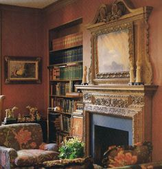 The library of Nan Kempner designed by Michael Taylor