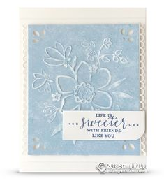 CARD: Life is Sweet from Detailed with Love Stamp Set | Stampin Up Demonstrator - Tami White - Stamp With Tami Crafting and Card-Making Stampin Up blog