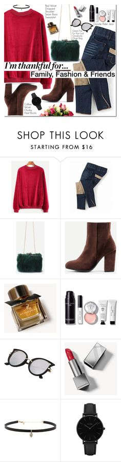 """I'm Thankful for..."" by oshint ❤ liked on Polyvore featuring Burberry, Bobbi Brown Cosmetics, Carbon & Hyde and CLUSE"
