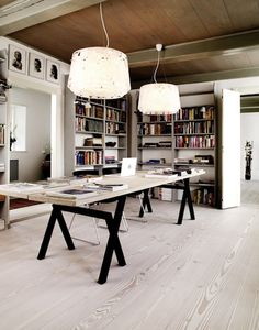 Perfect floor from Dinesen and a lovely table