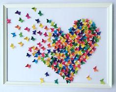 3D multicolored butterflies painting Wall  ART 3D by Gabiworks