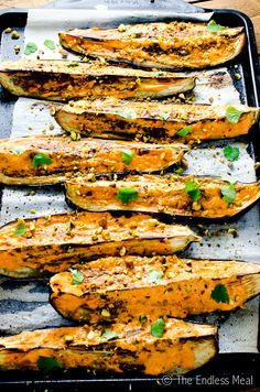 Blog post at The Endless Meal :  Oh hello, you delicious roasted eggplant! Are you with me on the whole eggplant is amazing thing? It's one of those rare vegetables that,[..]