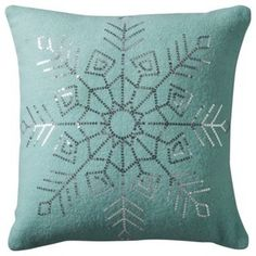 Threshold Sequin Snowflake Pillow - contemporary - holiday decorations - by Target