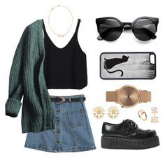 """""""Me-yew."""" by jieun-sung on Polyvore featuring Chicnova Fashion, Prada, Marc by Marc Jacobs, Underground, CellPowerCases, Topshop, Forever 21, Repossi and Cartier"""