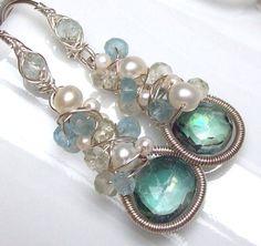 Bering Sea Earrings by SparrowsJewels on Etsy, $87.00