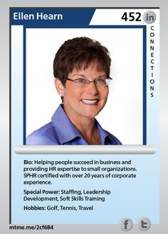 Helping people succeed in business and providing HR expertise to small organizations.  SPHR certified with over 20 years of corporate experience.