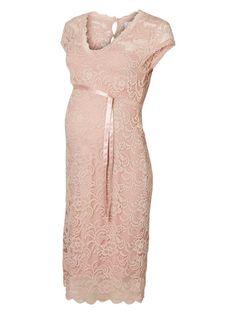 LACE MATERNITY DRESS, Misty Rose