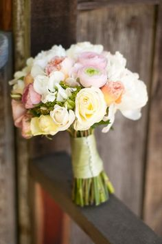 soft pastel #wedding #bouquet, credit: Honey & Twine Weddings and Events