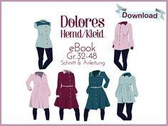 """Nähanleitungen Mode - E-Book Hemd/Kleid """"Dolores"""" - ein Designerstück von Das-Milchmonster bei DaWanda"""
