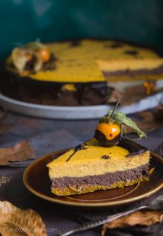 Pumpkin chocolate cheesecake with oat base, pepper and chilli to warm you up! Pumpkin Chocolate Cheesecake, Keto Cake, Chocolate Lovers, Creative Food, I Foods, Marshmallow, Sweet Recipes, Meal Planning, Food Photography