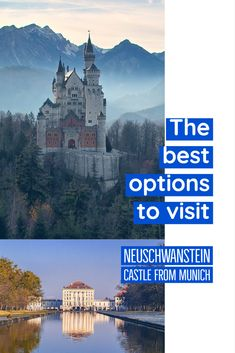 Neuschwanstein is 2 hours from Munich. Trains leave the central station on the hour for Fussen at the base of the castle. We have the best options for you  Castle | Bavaria | King Ludwig | Munich train | tour to Neuschwanstein | bus to Neuschwanstein | train to Neuschwanstein | driving to Neuschwanstein |   #germany #bavaria #castle #travel #europe #vacation #holiday #explore #travelers