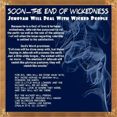 For evil men will be done away with, But those hoping in Jehovah will possess…