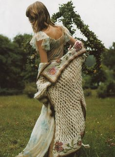Angela Lindvall in a fairy-tale mood photographed by Mikael Jansson