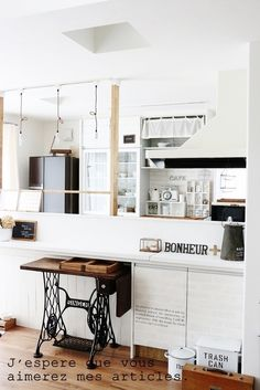 ●キッチン模様替え*渋白、塩系インテリア&chérieの、あの完売品● |・:*:ナチュラルアンティーク雑貨&家具のお部屋・:*