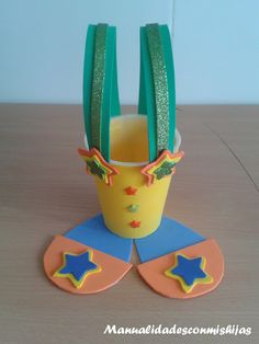Google+ Clown Crafts, Circus Crafts, Diy And Crafts, Crafts For Kids, Arts And Crafts, Carnival Birthday, Birthday Party Decorations, Art Drawings For Kids, Art For Kids