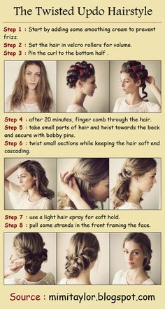 The Twisted Updo Hairstyle | PinTutorials