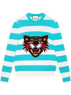 Gucci Angry Cat Striped Jumper $1,100 - Buy AW17 Online - Fast Delivery, Price