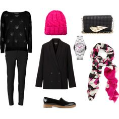"""black and pink"" by noanyedges on Polyvore"