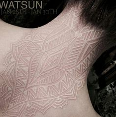 Badass and Unique White Ink Tattoos | TAM Blog - Part 2