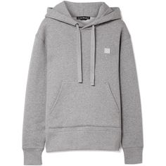 Acne Studios Ferris Face cotton-jersey hooded top (2 580 SEK) ❤ liked on Polyvore featuring tops, hoodies, jumpers/hoodies, momma, light gray, logo hoodies, acne studios hoodie, hooded pullover, hooded hoodie and logo top