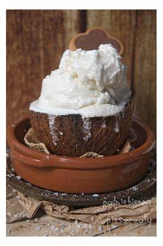 Lody kokosowe bez laktozy, bez jajek