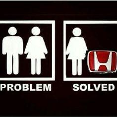 Honda love. All a girl needs is her car <3