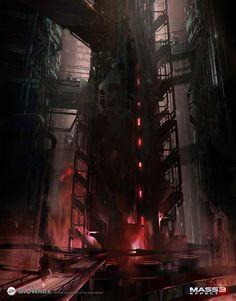 Mass Effect 3: Omega concept art