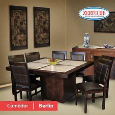 comedor dubai en estilo moderno en madera y chapa de álamo ... - Muebles De Madera Modernos Para Comedor