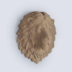 Lion Head Trophy DIY Cardboard Craft by boardattack on Etsy