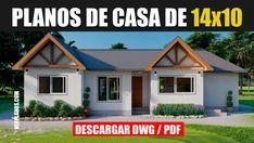 Descargar ► Planos de casa con 4 Dormitorios y 2 Baños (DWG / PDF)
