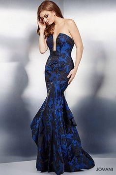 Navy Tiered Mermaid Dress 28902