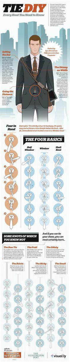 Tie DIY for the Gentleman Geek [Infographic]