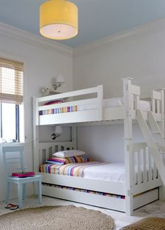 Bunk beds for girls' room. I like the trundle or storage under.