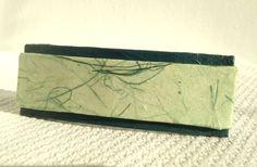Green Hanji French Barrette Hair Pin OOAK Organic by HanjiNaty, $12.00