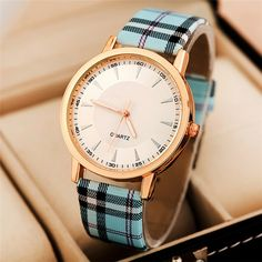 Brand Design Watches Women Fashion Plaid Pu Leather Gold Plated Quartz Wrist Watch Women Casual Watch Clock Relogio Feminino 306-in Fashion Watches from Watches on Aliexpress.com | Alibaba Group