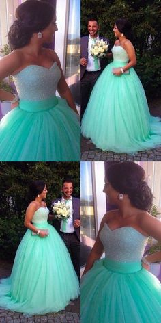 Gorgeous Green A Line Sweetheart Tulle Wedding Dresses Ball Gowns - 2019 Wedding Dresses - Inexpensive Bridesmaid Dresses, Affordable Wedding Dresses, Cheap Wedding Dress, Cheap Prom Dresses, Ball Dresses, Tulle Wedding, Gown Wedding, Vestidos Zara, Vestidos Sexy