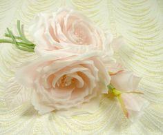 Stunning Pink Silk Rose Spray Bouquet for Weddings by APinkSwan, $30.25