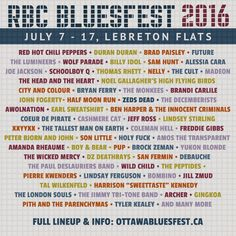 Ottawa Bluesfest 2016: Red Hot Chili Peppers and Duran Duran