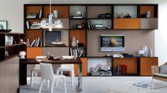 SPALLA - Il mondo del living a spalla permette di comporre librerie, contenitori o vani a giorno delle più diverse dimensioni e in tutte le finiture delle cucine Veneta Cucine, partendo da semplici elementi come spalle, schiene, ripiani ed ante. Può essere integrato alla cucina nella sua definizione più classica o essere collocato a parte per coordinare ambienti diversi. http://www.venetacucine.com/ita/living/spalla/sistema-a-spalla.php