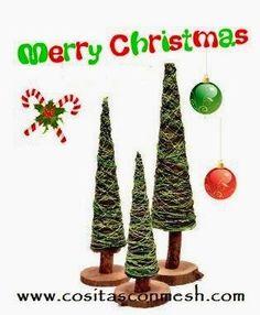 Arbolitos pequeños para decorar en Navidad | Aprender manualidades es facilisimo.com
