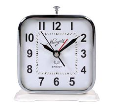 Newgate 'Sprint' (silent) Alarm Clock - cream