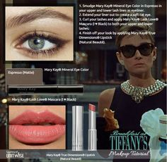 Have fun recreating your favorite looks from the movies with Mary Kay cosmetics! Audrey Hepburn! ORDER: www.marykay.com/vcarretta