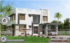 Villa Home Design Small Contemporary House Plans, Modern House Floor Plans, Small House Plans, Plan Duplex, Duplex House Plans, House Plans With Pictures, House Design Pictures, Indian Home Design, Bali House