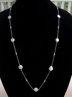 Fresh Water Pearl and Sterling Silver Necklace by KyanneCreations https://www.etsy.com/shop/KyanneCreations
