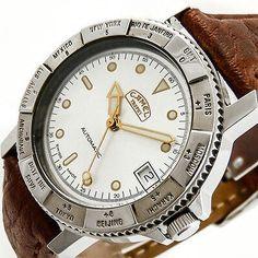 Camel Trophy Watch Green Belt mit Swiss Made Mondaine ETA 2824-2 Laufwerk 25 Jewels - 2016 bei ebay leider verasst