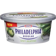 Kraft Philadelphia Spicy Jalapeno Cream Cheese Spread, 8 oz this stuff is amazing....Stan basically eats this with a spoon!