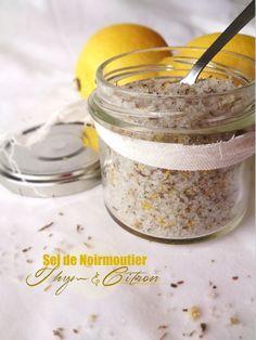 Sel de Noirmoutier aromatisé au thym et au citron