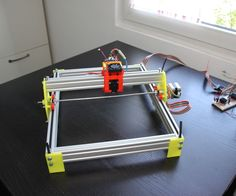 Printed Laser Engraver: 6 Steps (with Pictures) 3d Printing Machine, 3d Printing Diy, 3d Printing News, 3d Printing Technology, Cnc Machine, Medical Technology, Energy Technology, Technology Gadgets, Educational Technology
