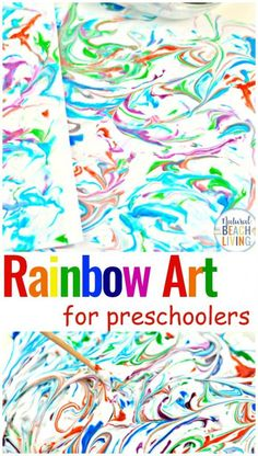 Rainbow Art for Kids - Shaving Cream Art - Natural Beach Living Best Picture For nature art acrylic For Your Taste You are looking for something, and it is going to tell you exactly what you are looki Science Experiments Kids, Science Art, Science For Kids, Art For Kids, Food Science, Preschool Colors, Preschool Crafts, Preschool Food, Preschool Kindergarten