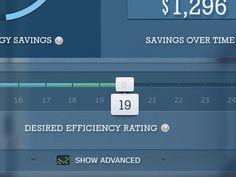 efficiency slider